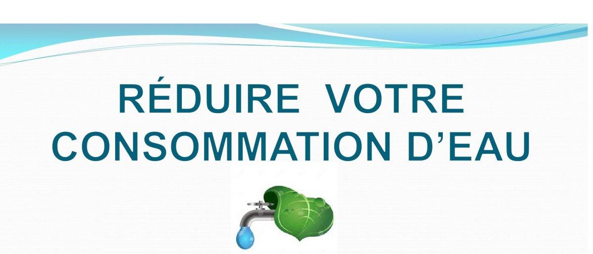 Réduire votre consommation d'eau